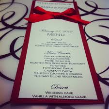 Invitation Cards Design With Ribbons Elegant Red Ribbon Menu Card For All Your Events
