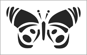 single open butterfly stencil available