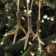 set of 3 faux antler ornaments ballard designs for my