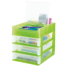 Desk Organizer Drawers 3 Drawer Desktop Organizer The Container Store