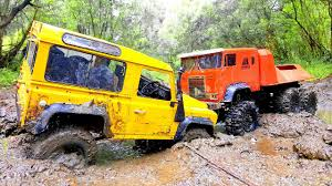 land rover defender 90 yellow rc trucks mudding u2014 land rover defender 4x4 and the beast rc4wd