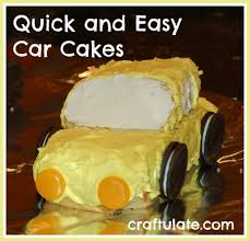 quick and easy car cakes craftulate