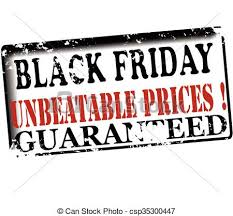 black friday artwork eps vector of black friday unbeatable prices guaranteed rubber