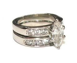 ss wedding ring 2 25 ct marquise cut cubic zirconia wedding ring set edwin earls