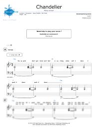 Sia Chandelier Free Piano Sheet Chandelier Piano Version Sia Noviscore Sheets