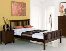 White And Oak Bedroom Furniture Atlanta Dark Wood Bed Frame King 299 Bedframes Co Uk Interiors