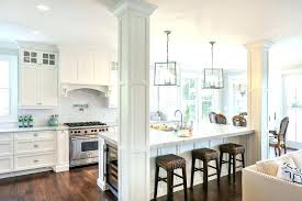 post and beam kitchen kitchen contemporary with pillar kitchen columns island posts column ideas traditional with pendants