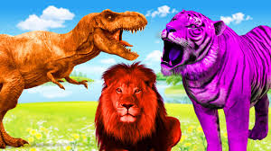 color song colours dinosaurs gorilla tiger lion rhymes for