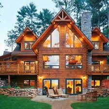 michael s parents house obnoxiously luxurious log cabin style