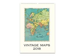 Vintage Maps Cavallini 2018 Wall Calendar Vintage Maps U2013 Jenni Bick Bookbinding