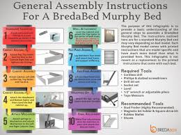 Instructions For Building Bunk Beds by Murphy Bed Assembly Instructions Murphy Bed Installation