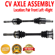pair front cv axle shaft for chevrolet tracker 99 04 4wd ebay