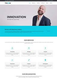 tycoon corporate bootstrap html website template webthemez