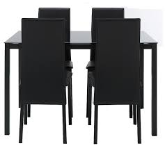 Glass Dining Table And 4 Chairs by Hygena Lido Glass Dining Table And 4 Chairs Black Amazon Co Uk