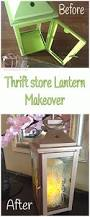 thrift store diy home decor thrift store lantern makeover with spray paint and armour etch