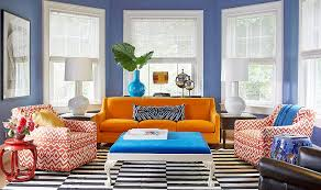 bold living room colors blue orange jpg