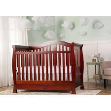 Convertible Cribs With Storage On Me Cherry 5 In 1 Convertible Crib With Storage