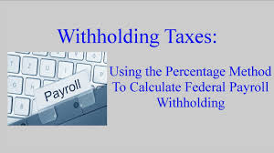 W 4 Withholding Table Withholding Taxes How To Calculate Payroll Withholding Tax Using