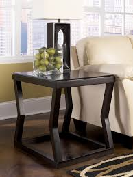 Ashley Furniture End Tables Kelton Espresso T592 Rectangular Cocktail Table With Ottoman And 2