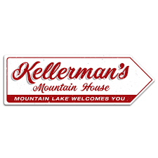 kellermans mountain house arrow metal wall plaque art sign dirty