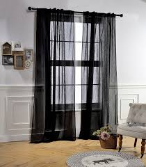 Crushed Sheer Voile Curtains by Amazon Com Mysky Home Back Tab And Rod Pocket Window Crushed
