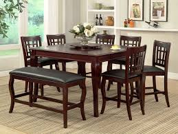 marvellous counter height dining table and chairs with lazy susan