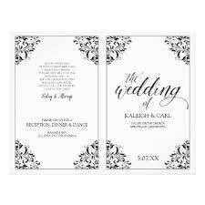 black wedding programs wedding program booklet nadine black wedding