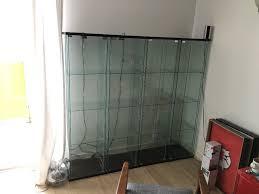 Detolf Ikea by 2 X Ikea Detolf Glass Door Cabinet Black Brown 43x163 Cm In
