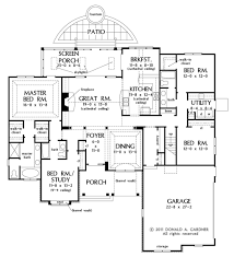 Parts Of A Cathedral Floor Plan by European Style House Plan 4 Beds 3 00 Baths 2324 Sq Ft Plan 929 27