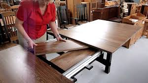 how amish dining table leaf storage works youtube