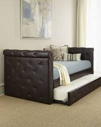 fascinating bold solid designs leather daybed ideas bedroomi net