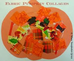 Simple Fall Crafts For Kids - simple toddler craft pumpkin collages with fall fabrics where