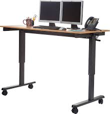 Computer Desk With Adjustable Height by Amazon Com 60