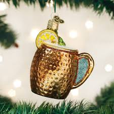 mug ornament moscow mule mug ornament glass christmas ornaments by world