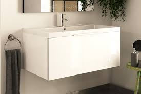 Deep Bathroom Sink by Mydesign White 800 Extra Depth Wall Hung Vanity Unit With Sink