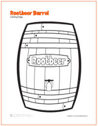rootbeer mug barrel free coloring pages art student
