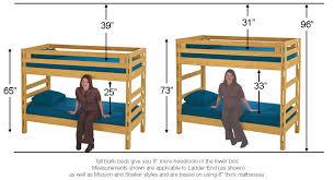 bunk bed measurements bunkbed measurements jpg 1000 542 hostel bunkbed pinterest