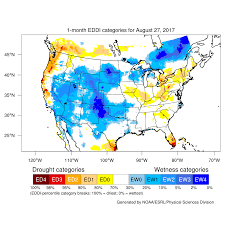 Great Basin Usa Map by Drought August 2017 State Of The Climate National Centers