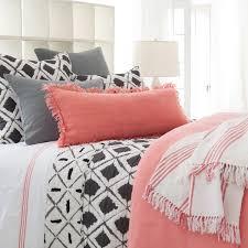 bedroom grey and coral chevron bedding medium light hardwood