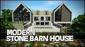 minecraft creative showcase stone barn modern house youtube