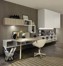 bureau en bois moderne aménagement de bureau moderne dans un salon design