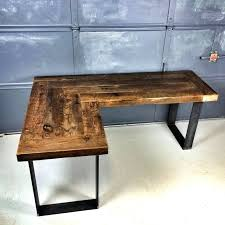 solid l shaped desk desk reclaimed wood l shaped desk solid timber office furniture