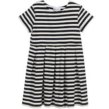 rachel riley girls navy blue u0026 white striped dress childrensalon