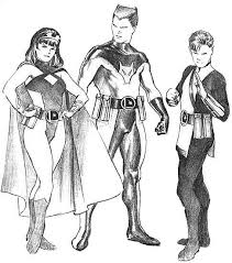 alex ross sketch of legion members superheroes long live the