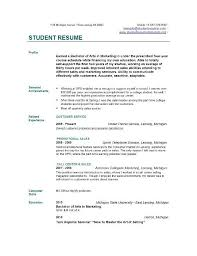 Sample First Resume by Example Of Resume For College Application Example Student Resumes