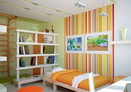 modern interior design with stripes striped wallpaper and home