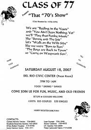 Reunion Invitation Card Templates Drhs Class Of 1977 News