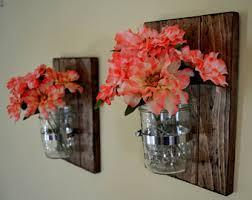 Rustic Wall Decor Mason Jar Wall Decor Etsy