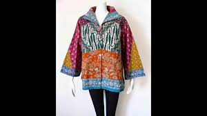 Baju Batik Batik batik tulis model baju kerja modern