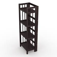 amazon com stony edge no assembly folding bookcase 4 shelves